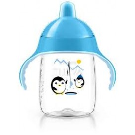 AVENT VASO ANTI-GOTEO 340 ML. +18M COLOR AZUL